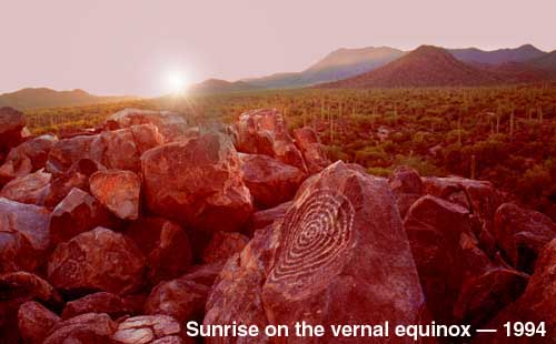 Sunrise at the vernal equinox